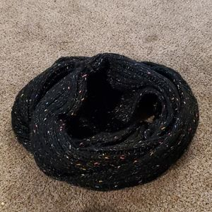 Hand-knit infinity scarf